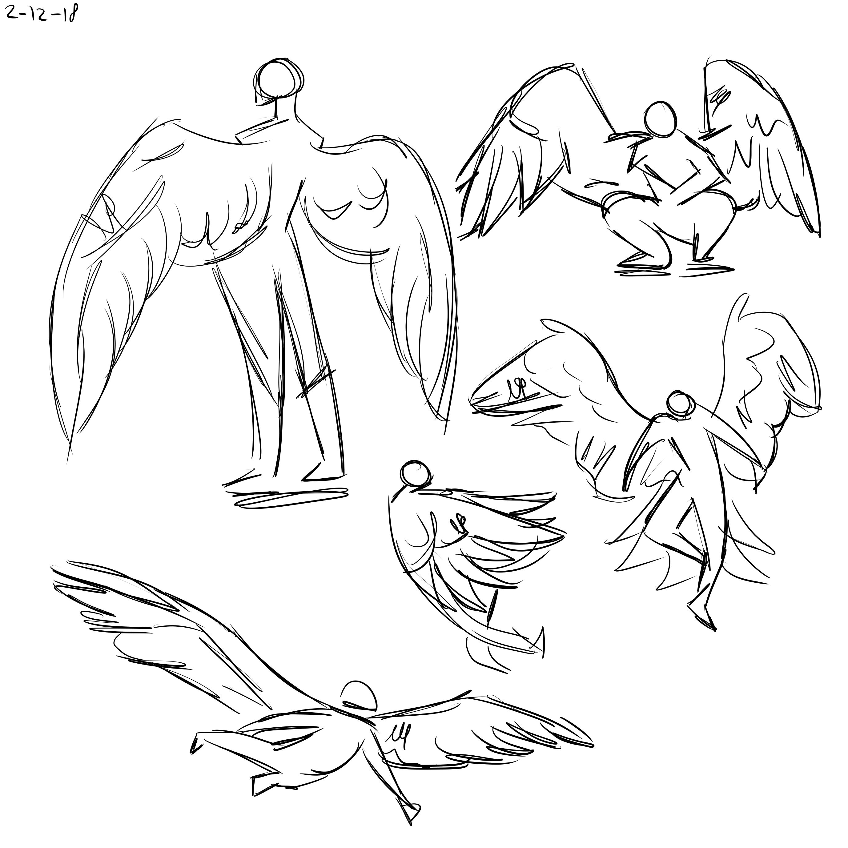 Drawn By Nathalie H Sketch Male Angel Angel Sketch Fly Drawing Sketches