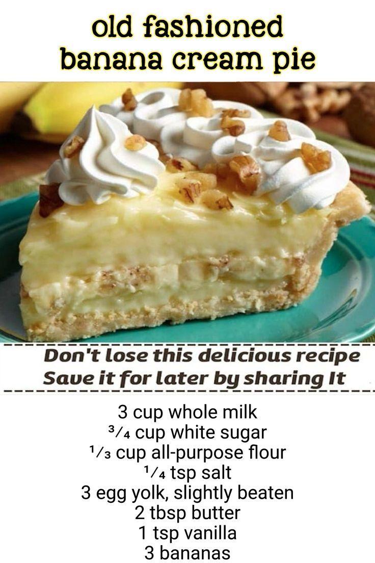 old fashioned banana cream pie / 3 cup whole milk 3⁄4 cup white sugar 1⁄3 cup all-purpose flour 1⁄4 tsp salt 3 egg yolk, slightly beaten 2 tbsp butter 1 tsp vanilla 3 bananas