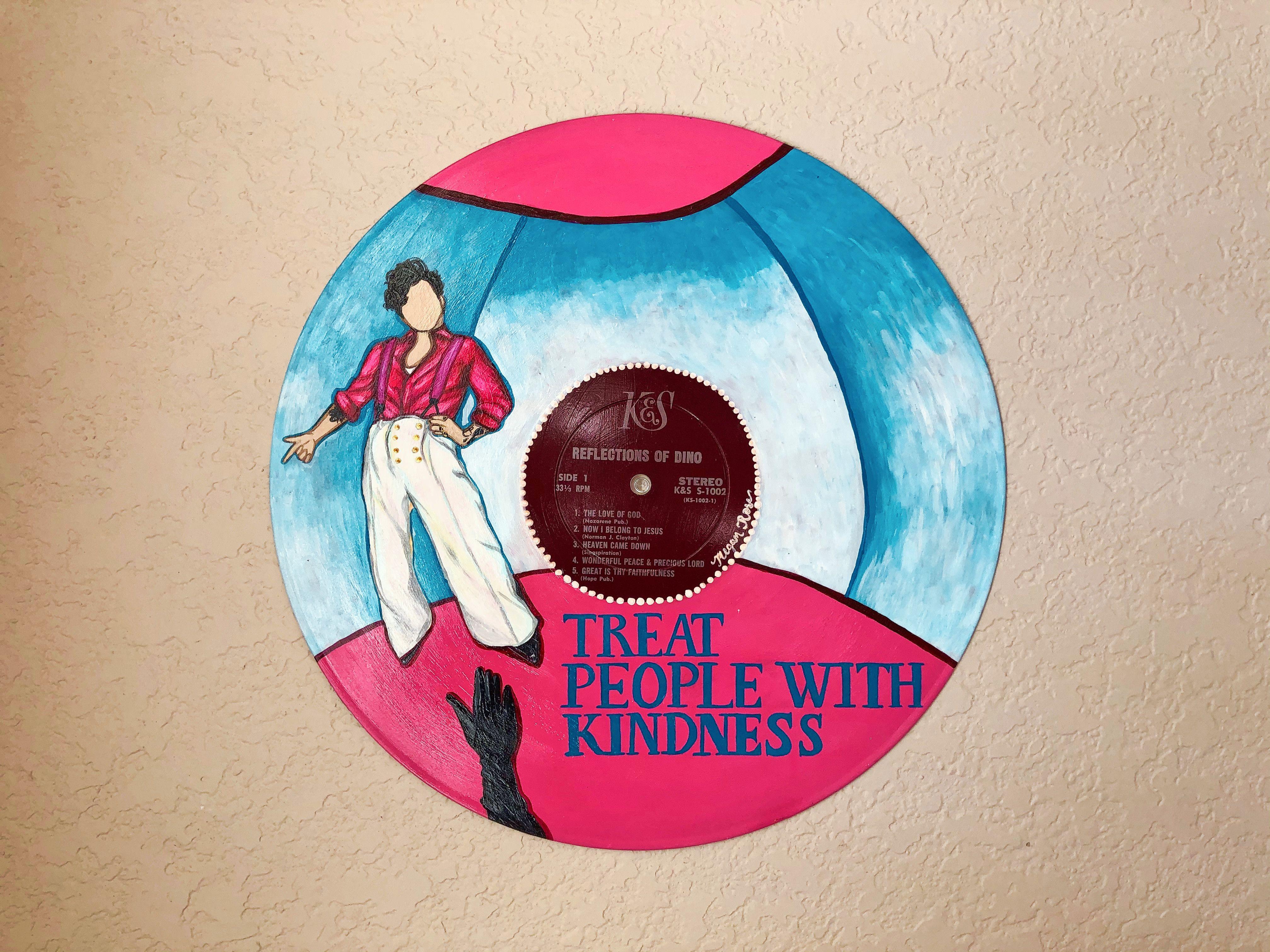 Harry Styles Fine Line Painted Vinyl Etsy In 2020 Vinyl Record Art Vinyl Record Art Ideas Vinyl Art Paint