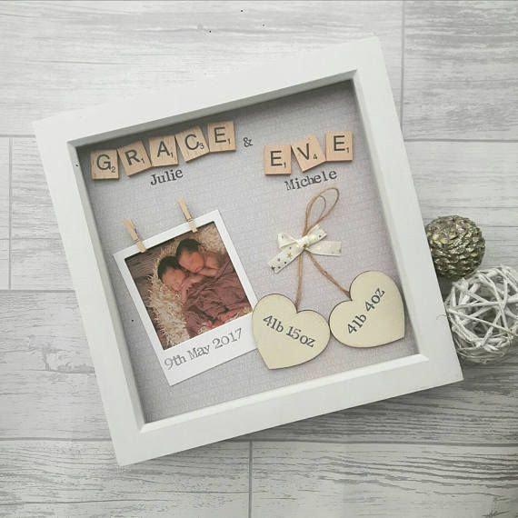 Personalised Handmade Beautiful New Born Baby Boy Card Baby Girl /& Twins Also