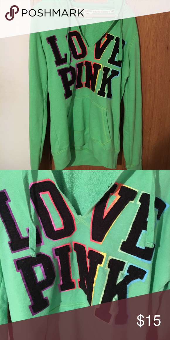 PINK hoodie PINK light hoodie. No stains and super comfy. Open to offers! PINK Victoria's Secret Tops Sweatshirts & Hoodies