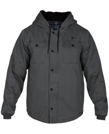 09308b9e34f8f Hurley Men s Outdoor Hooded Jacket - Gray 2XL