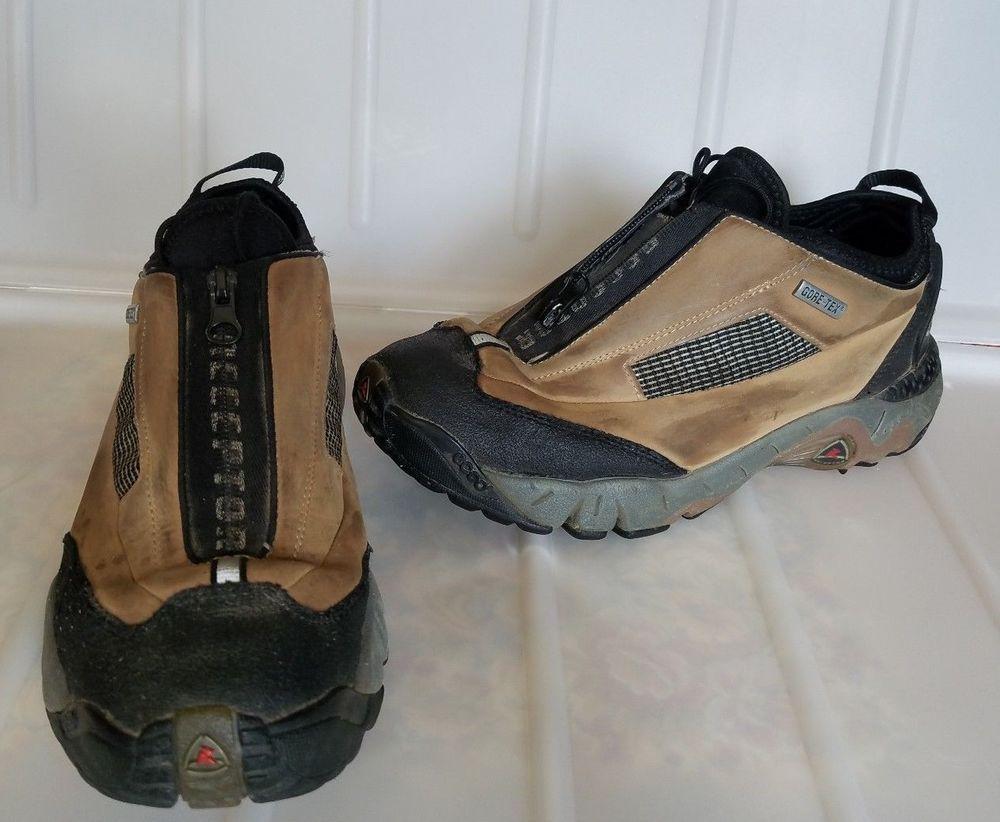 6f818ce6c4bc Ecco Receptor Gore Tex Womens Hiking Trail Shoes sz 8 EU 41 Brown zip  ECCO   HikingShoes