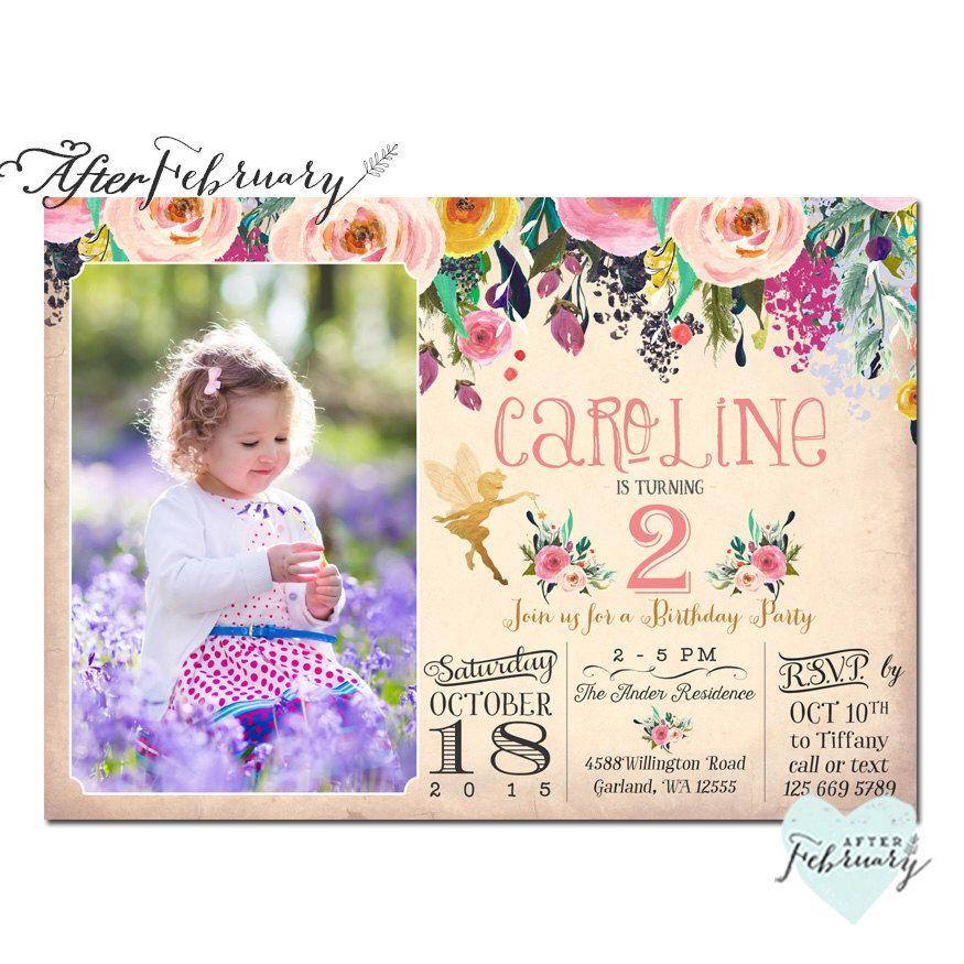 Fairy Birthday Invitation Fairy Invitation Enchanted Birthday Party ...