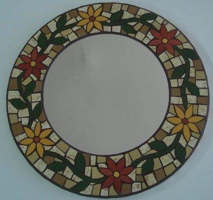 Espejo flores   mosaicos y vitrales   Pinterest   Espejo, Flores y ...