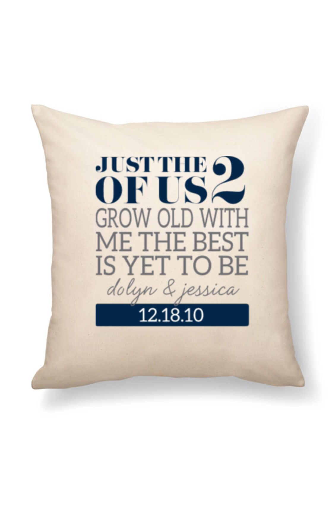 24x24 canvas pillow. Easily personalized to fit any decor!