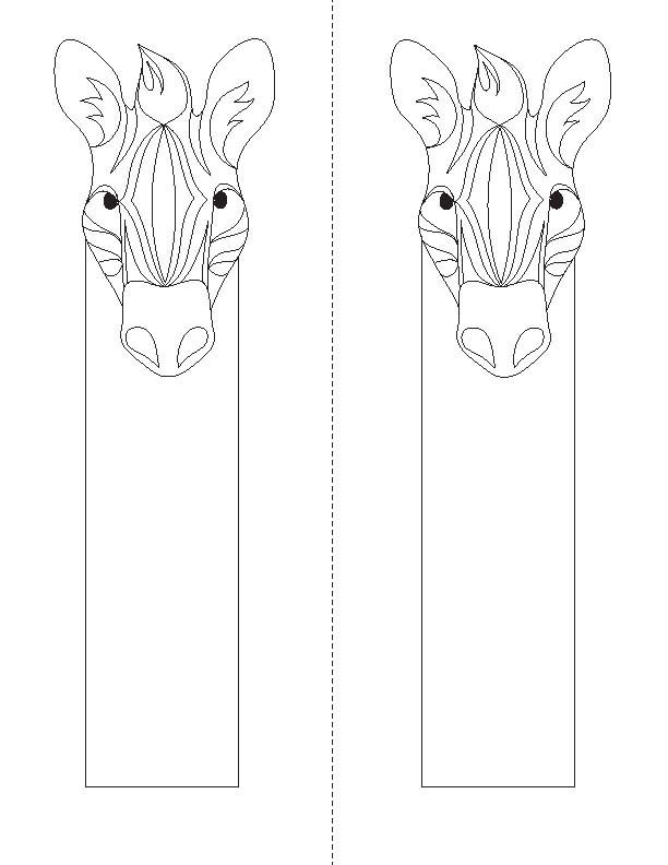 bookmarks to color Animal Coloring Bookmarks Children