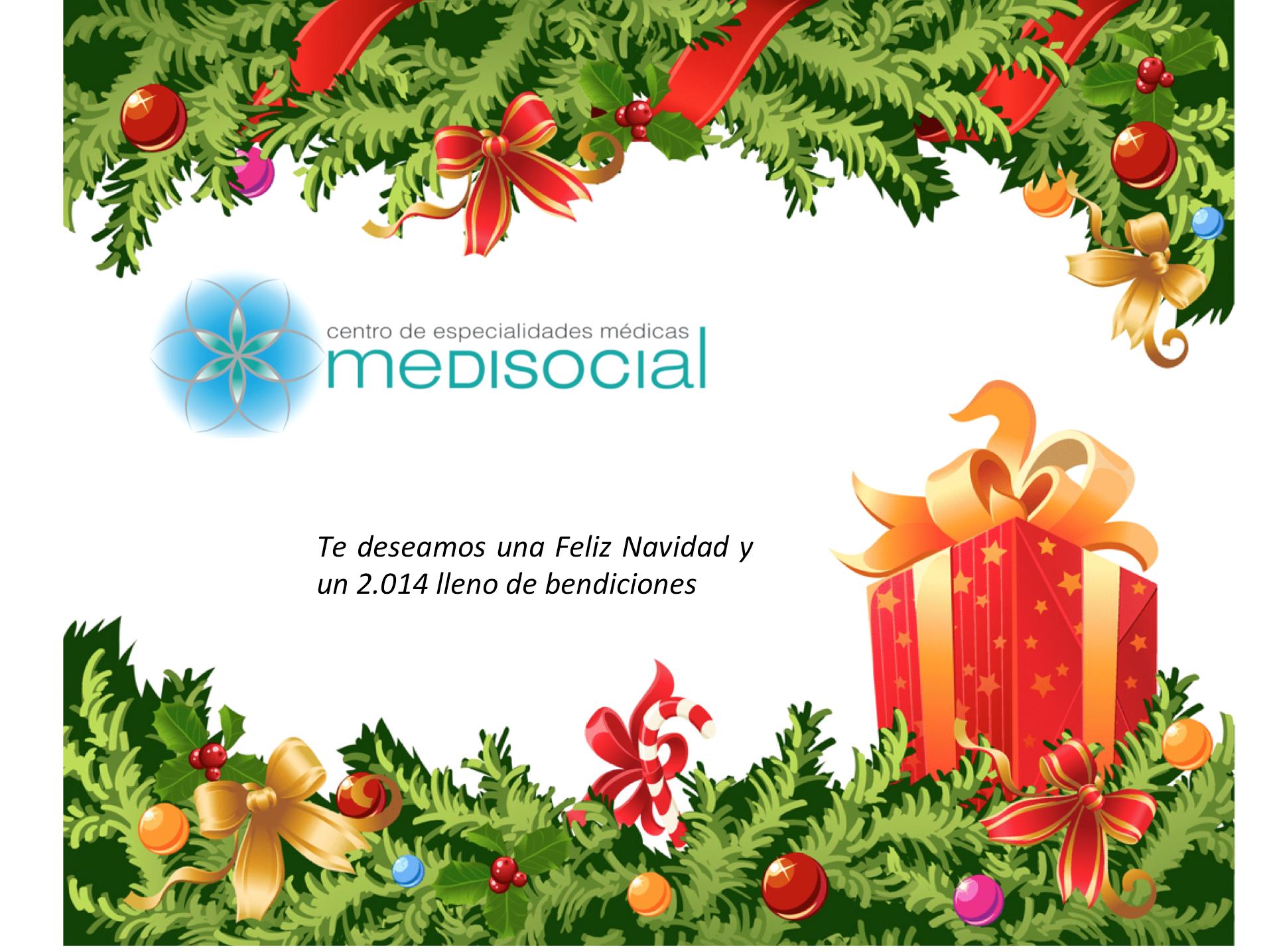 Feliz Navidad y Año Nuevo 2.014, le desea Centro de Especialidades Médicas MEDISOCIAL