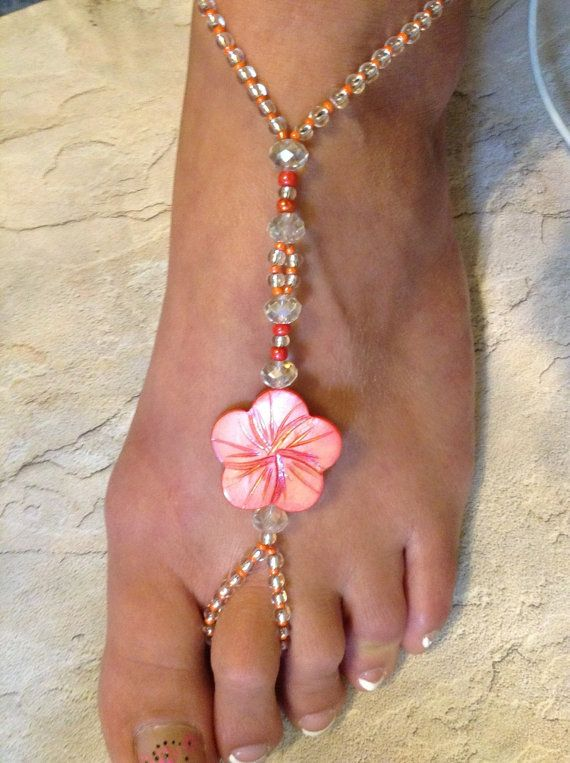 Very pretty coral shell and glass beaded by KaleidoscopeDesignzz, $40.00