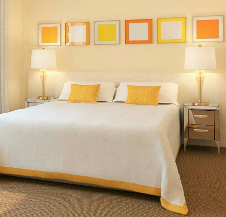 Yellow⏰ casa e decoração Pinterest - Orange Bedrooms