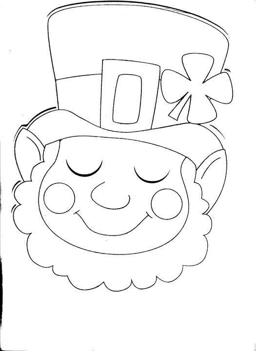 Coloring page St. Patrick's Day Pinterest