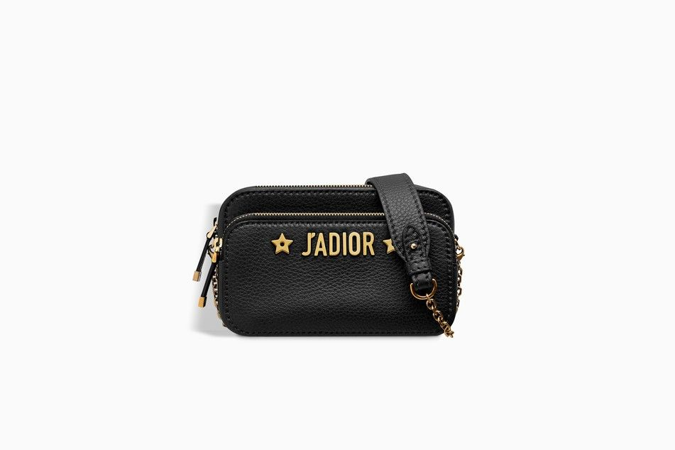 J ADIOR CAMERA CASE CLUTCH IN BLACK GRAINED CALFSKIN - J adior Dior ... 68e6739ec1c3b