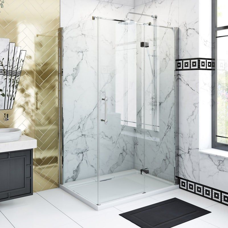 The Bath Co Beaumont Traditional 8mm Hinged Shower Enclosure In 2020 Traditional Bathroom Shower Enclosure Quadrant Shower Enclosures