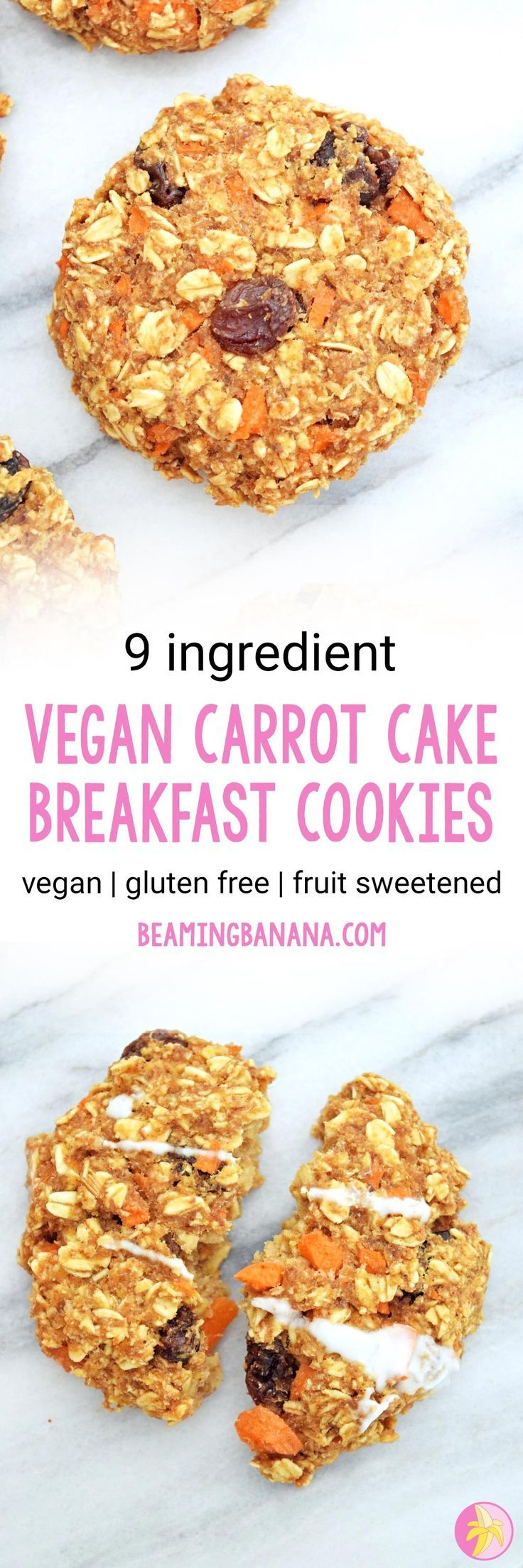 Vegan Carrot Cake Breakfast Cookies Rezept Rezepte Lecker Vegane Rezepte