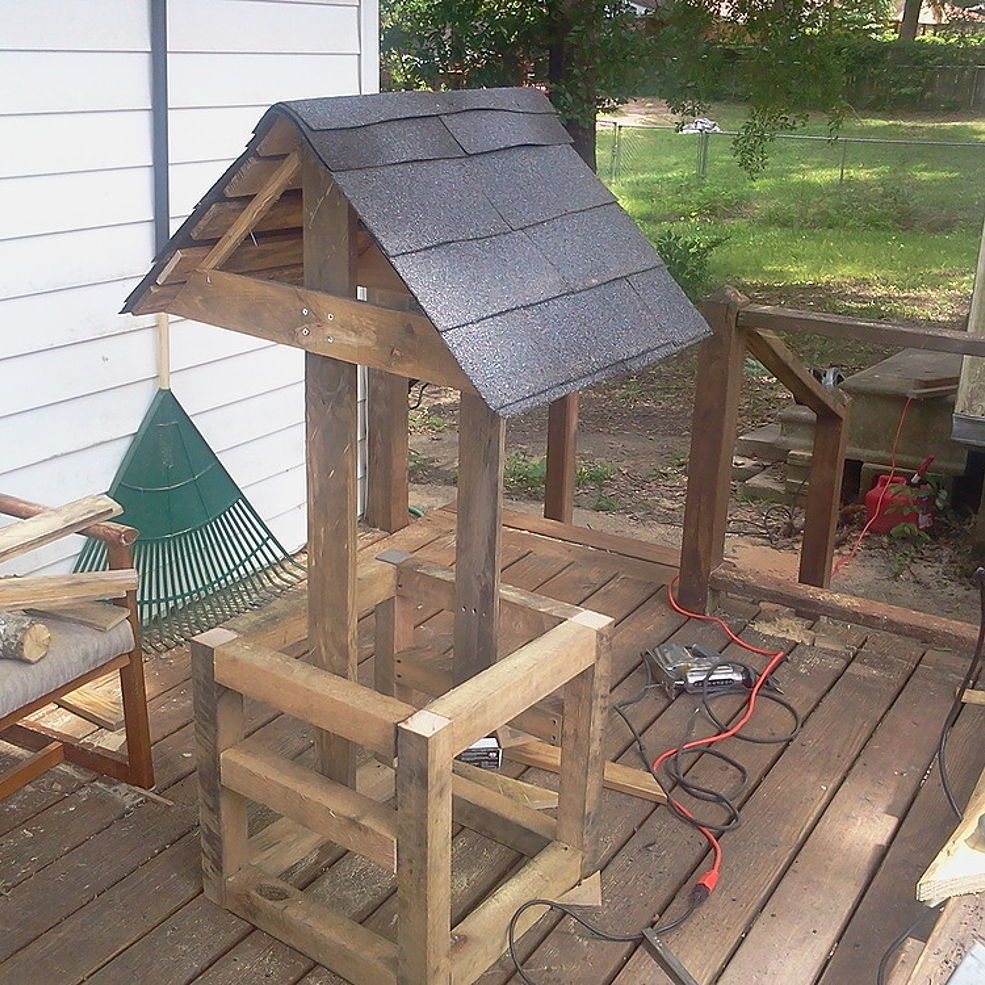 Wishing Well All Scrap Wood Outdoor Wood Projects Diy Wishing