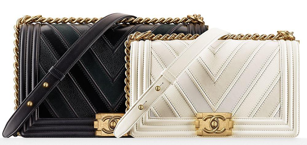 Chanel Chevron Boy Bags