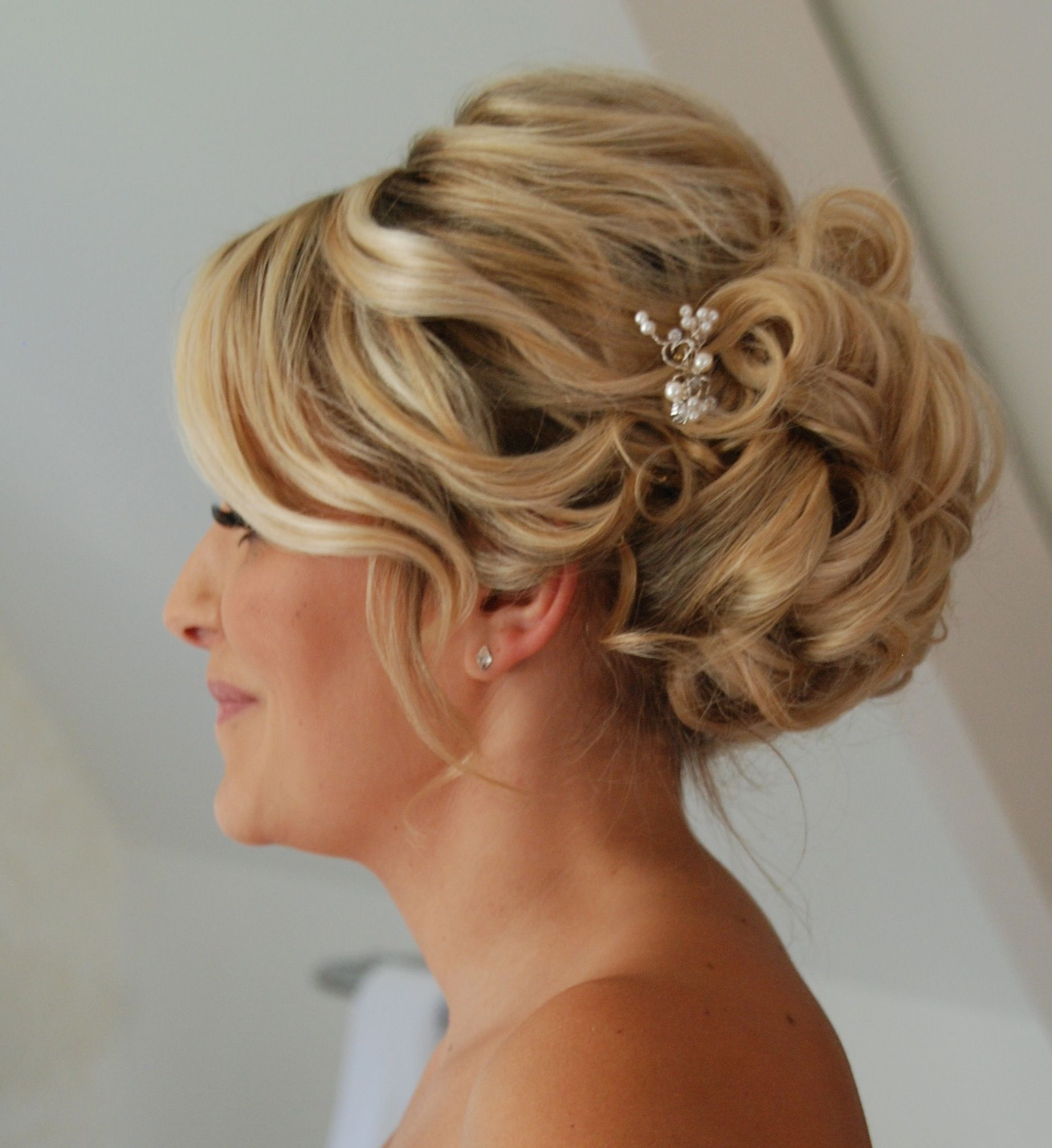 Relaxed Up Do With Sparkly Pin Www Beautifulhair4weddings Co Uk Updos For Medium Length Hair Mother Of The Bride Hair Mother Of The Bride Hair Short