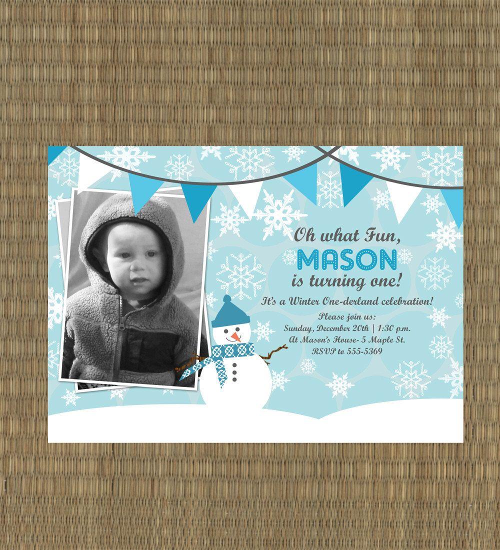 Printable Winter Onederland Invitation - Winter Wonderland ...