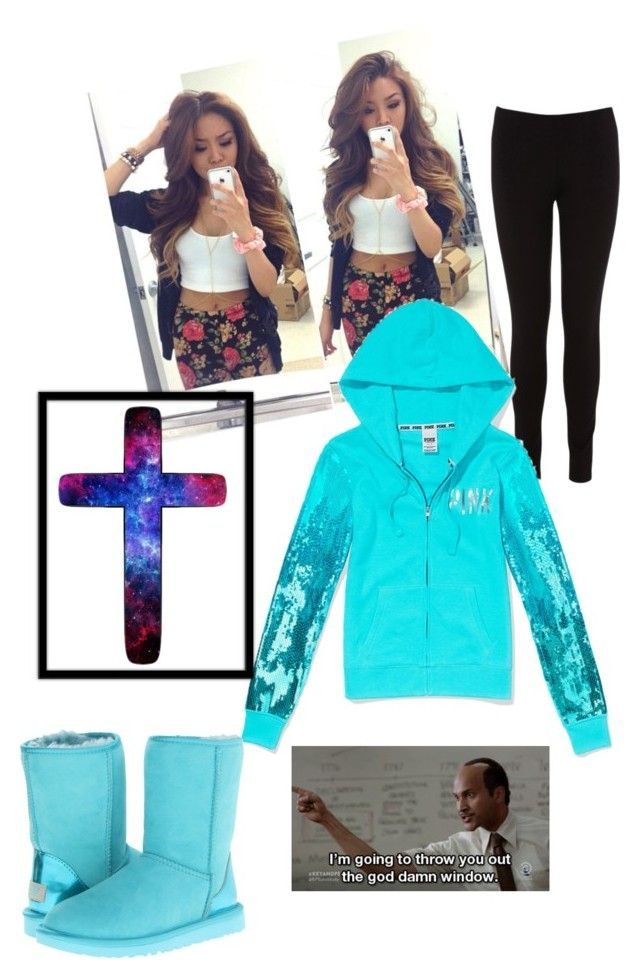 """Ootn. PM me anyone? -Layla"" by yourrandomanon123 ❤ liked on Polyvore featuring Oasis, Victoria's Secret, UGG Australia, women's clothing, women, female, woman, misses and juniors"