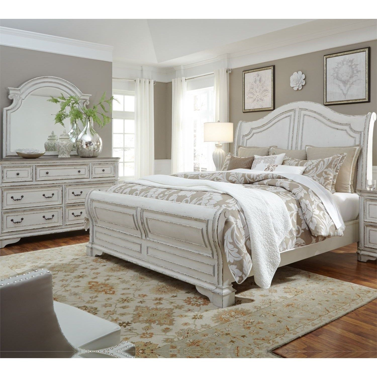 Magnolia Manor Queen Bedroom Group By Liberty Furniture At Hudson S Furniture White Sleigh Bed Liberty Furniture Furniture