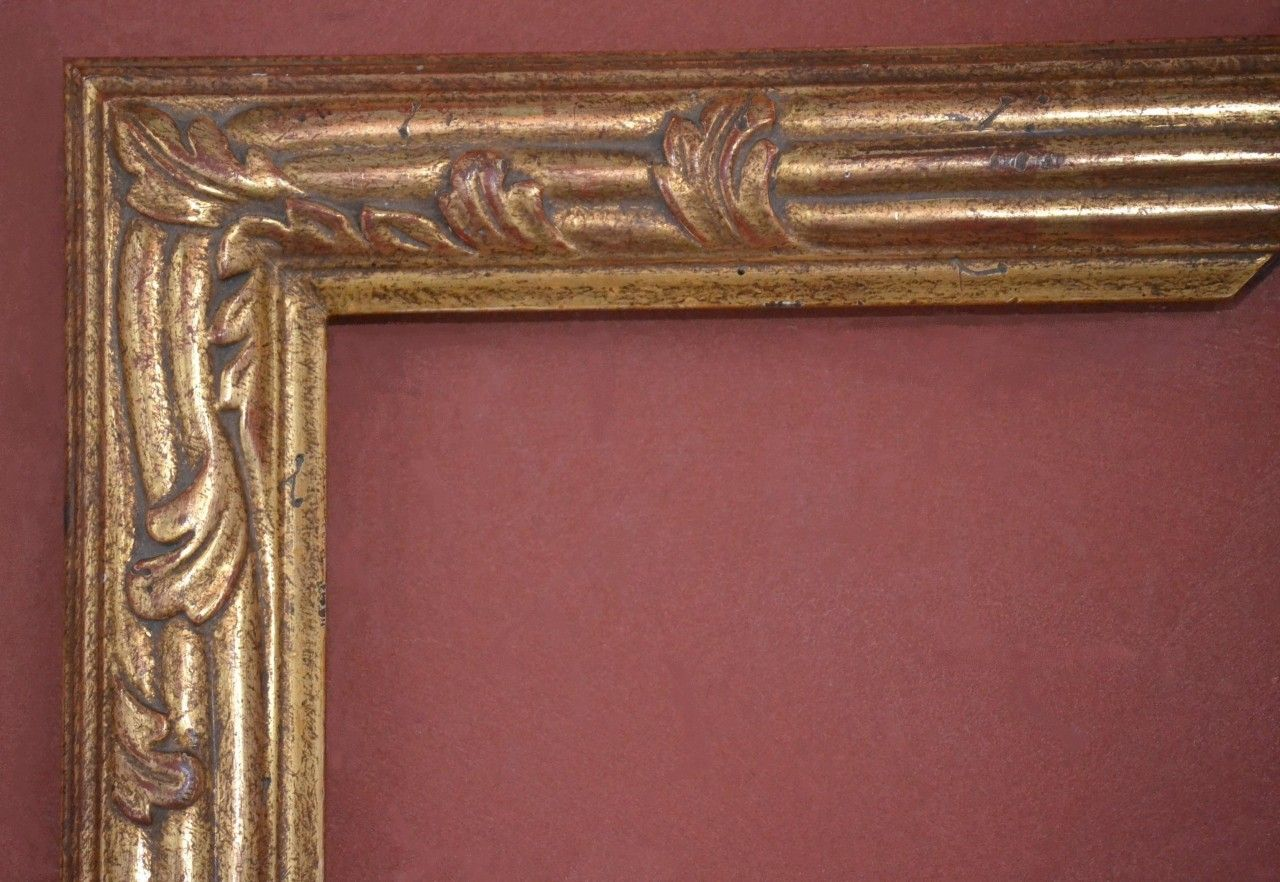 C 9303 Custom Hand Carved Picture Frame Plein Air 22 Karat Genuine Gold Leaf Hand Carved Gold Leaf Frame