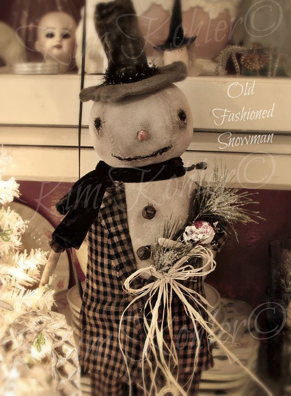 Primitive Snowman Doll Pattern INSTANT Download E EPattern PDF Patterns Folk Art Fabric Cloth Winter Christmas Kim Kohler is part of Clothes Winter Christmas - www veenasmercantile net