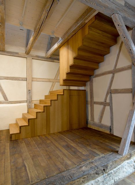 Escalier bois contreplaque recherche google escaliers pinterest escaliers bloc et tournai - Escalier pas japonais tournant ...