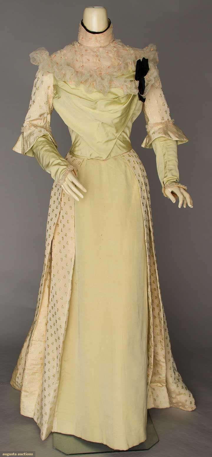 SHAMROCK BROCADE DRESS, BELFAST, late 1890s | Sleeves similar to Butterick 5970
