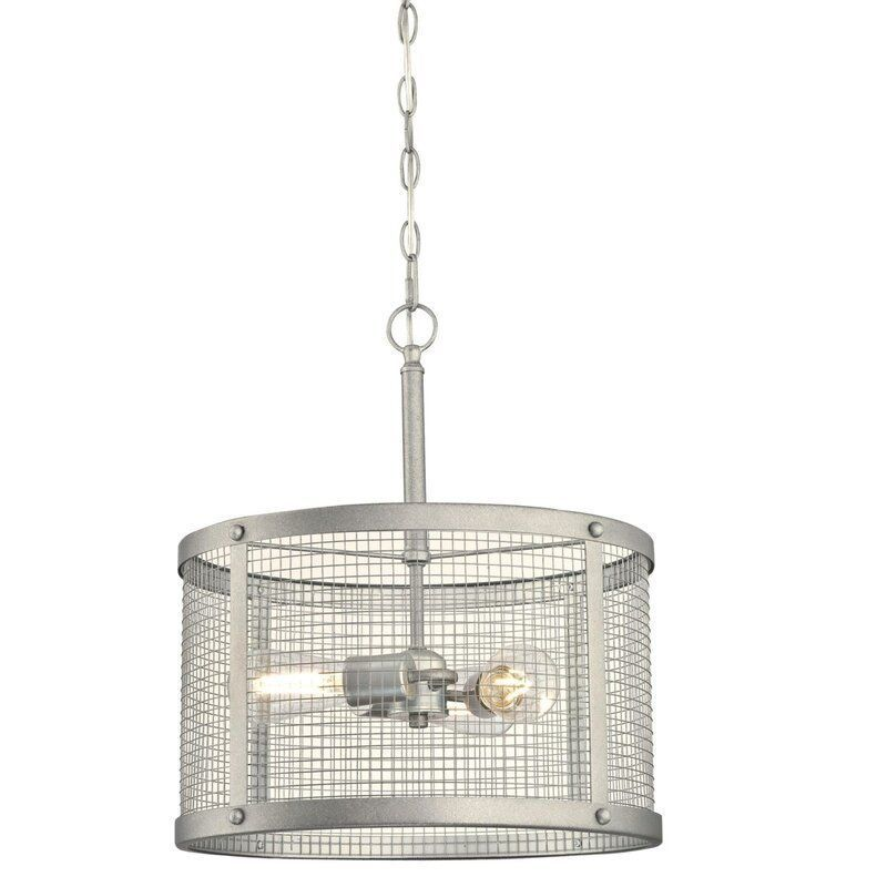 Agastya 3 Light Shaded Drum Pendant Drum Pendant Indoor Pendant Indoor Pendant Lights
