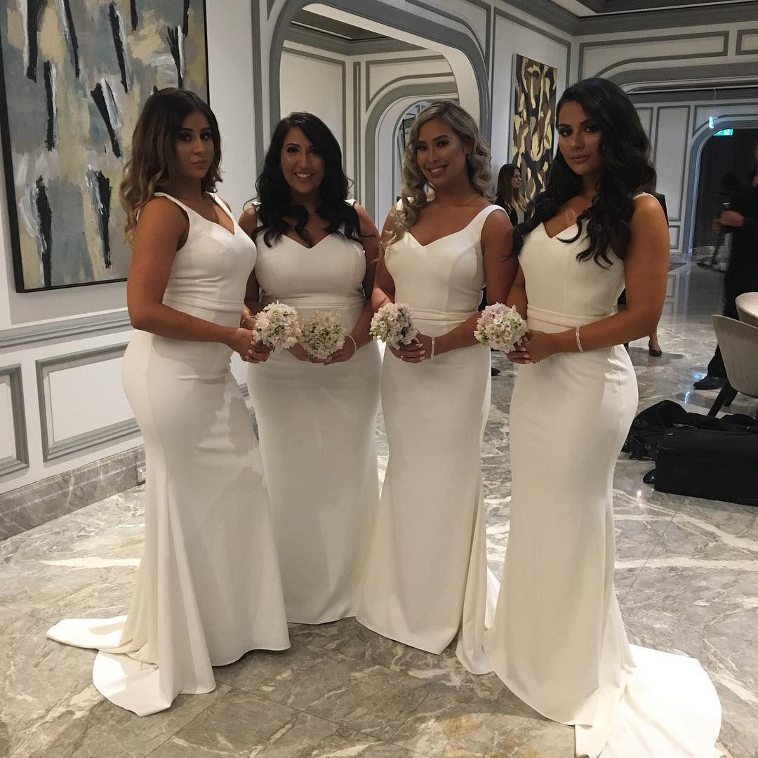 usdwhite bridesmaid dresseslong bridesmaid dressmermaid