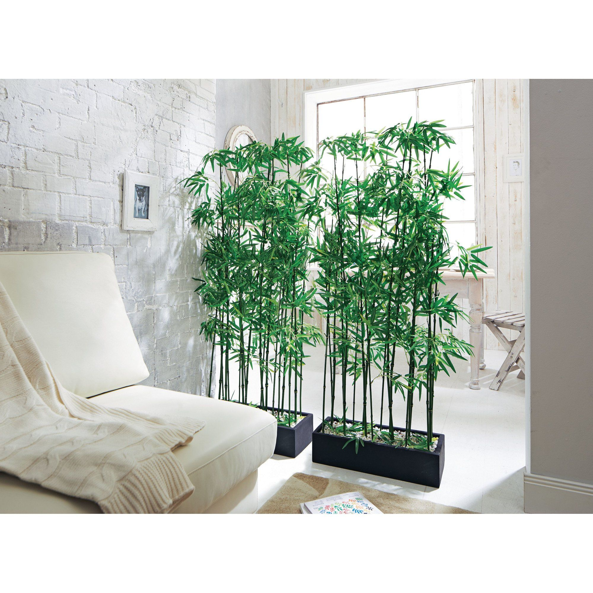 artificial bamboo plant room divider, approx. 140 cm high: amazon