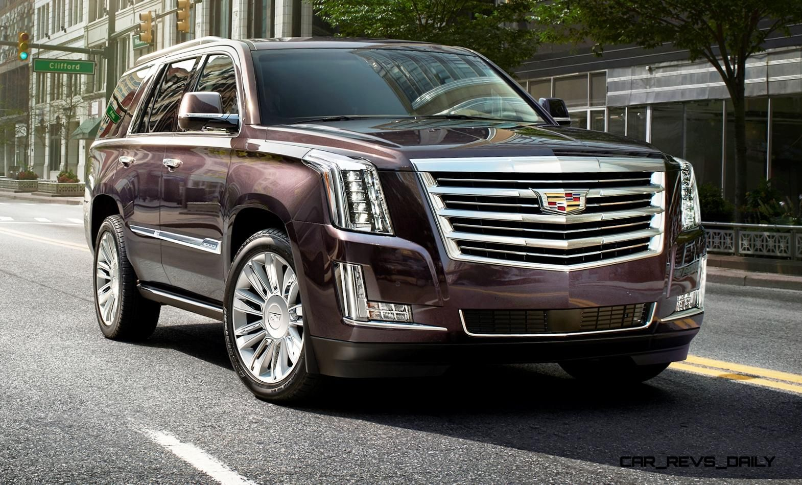 2015 cadillac escalade platinum brings new crest emblem 8 sp auto and posher cabin from
