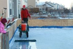 Homemade zamboni | Backyard rink, Ice rink, Backyard ice rink