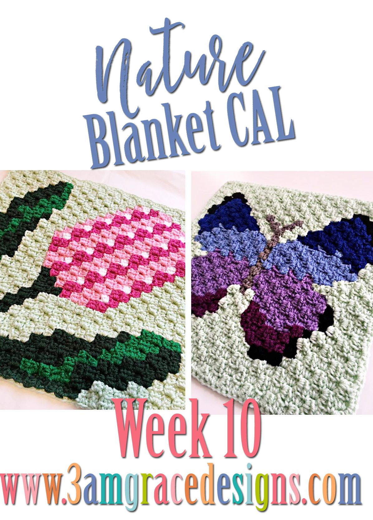 Nature Blanket C2C CAL - Week 10 | Blanket, Butterfly and Crochet