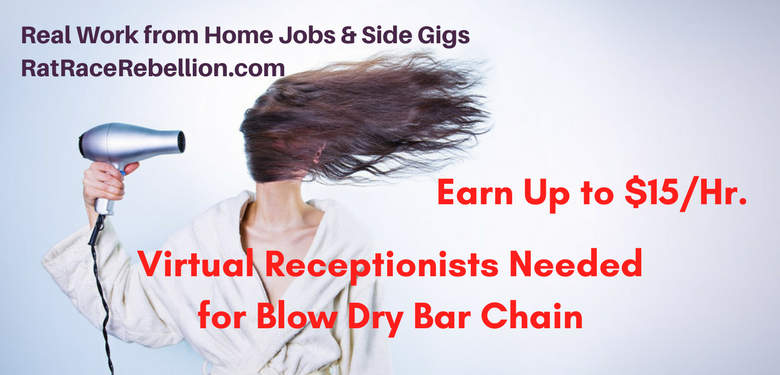 Work from Home Receptionists Needed for Blow Dry Bar Chain