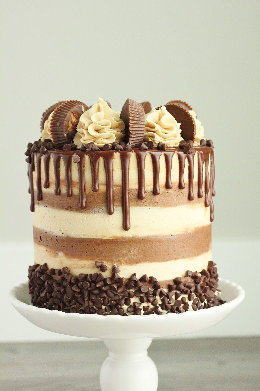 Fabulous Peanut Butter Chocolate Cake No Bake Cake Cake Recipes Savoury Funny Birthday Cards Online Inifofree Goldxyz