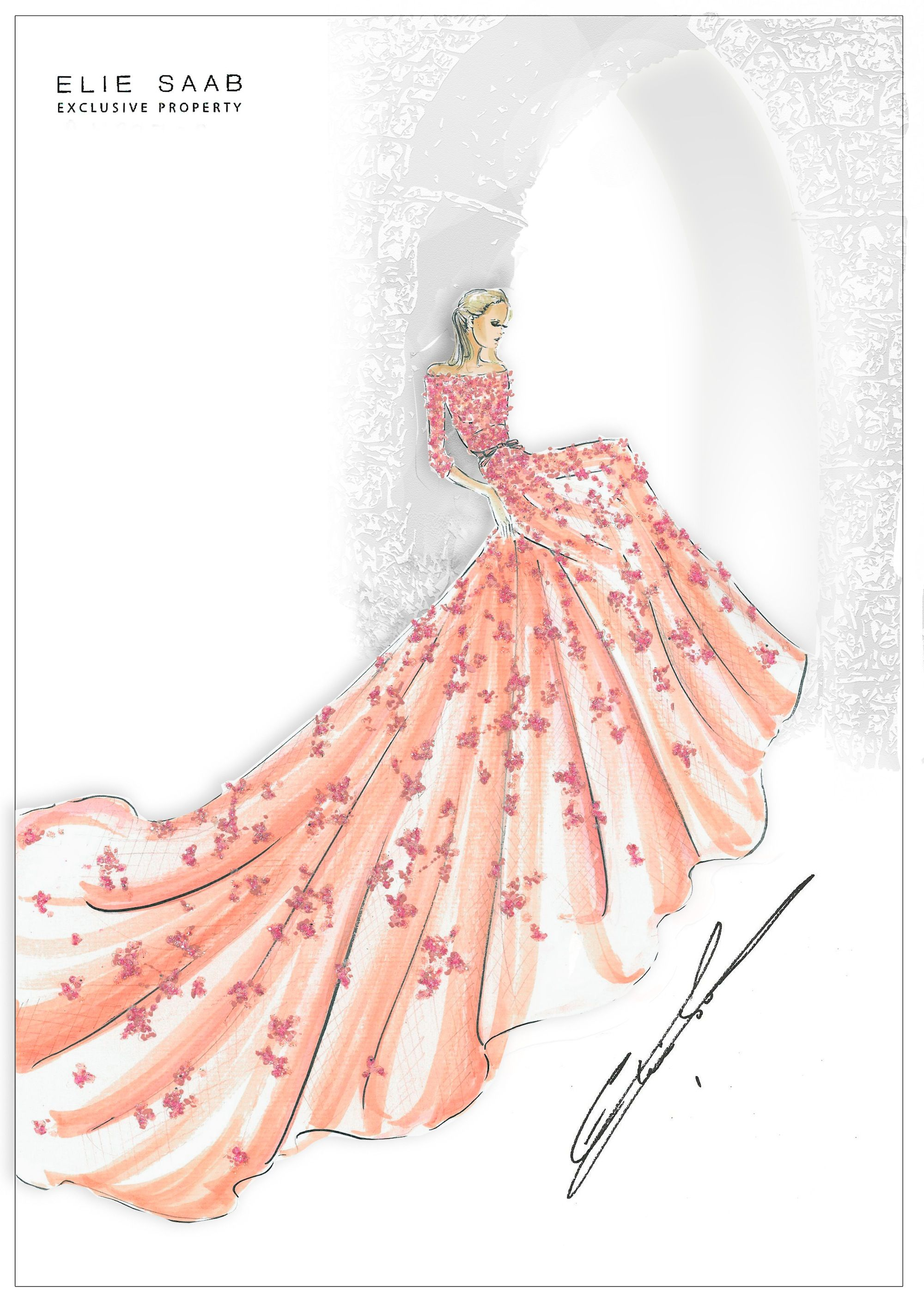 An exclusive sketch of Princess Aurora of Sleeping Beauty by Elie ...