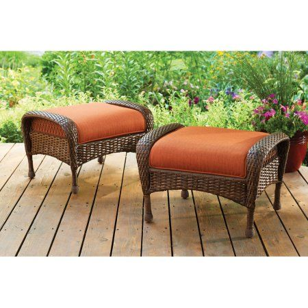 Excellent Better Homes And Gardens Azalea Ridge Outdoor Ottomans Set Gmtry Best Dining Table And Chair Ideas Images Gmtryco