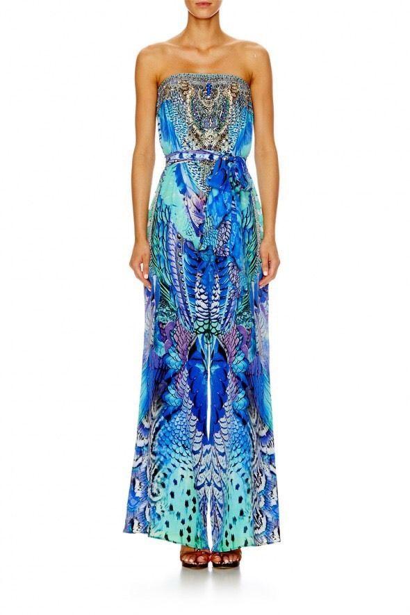 fb4864caf06 Camilla Moon Dance Tie Waist Strapless Jumpsuit Size S