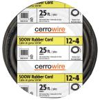 Cerrowire 25 Ft 12 4 600 Volt Black Soow Cord 283 3604a Cord Welding Leads Home Depot