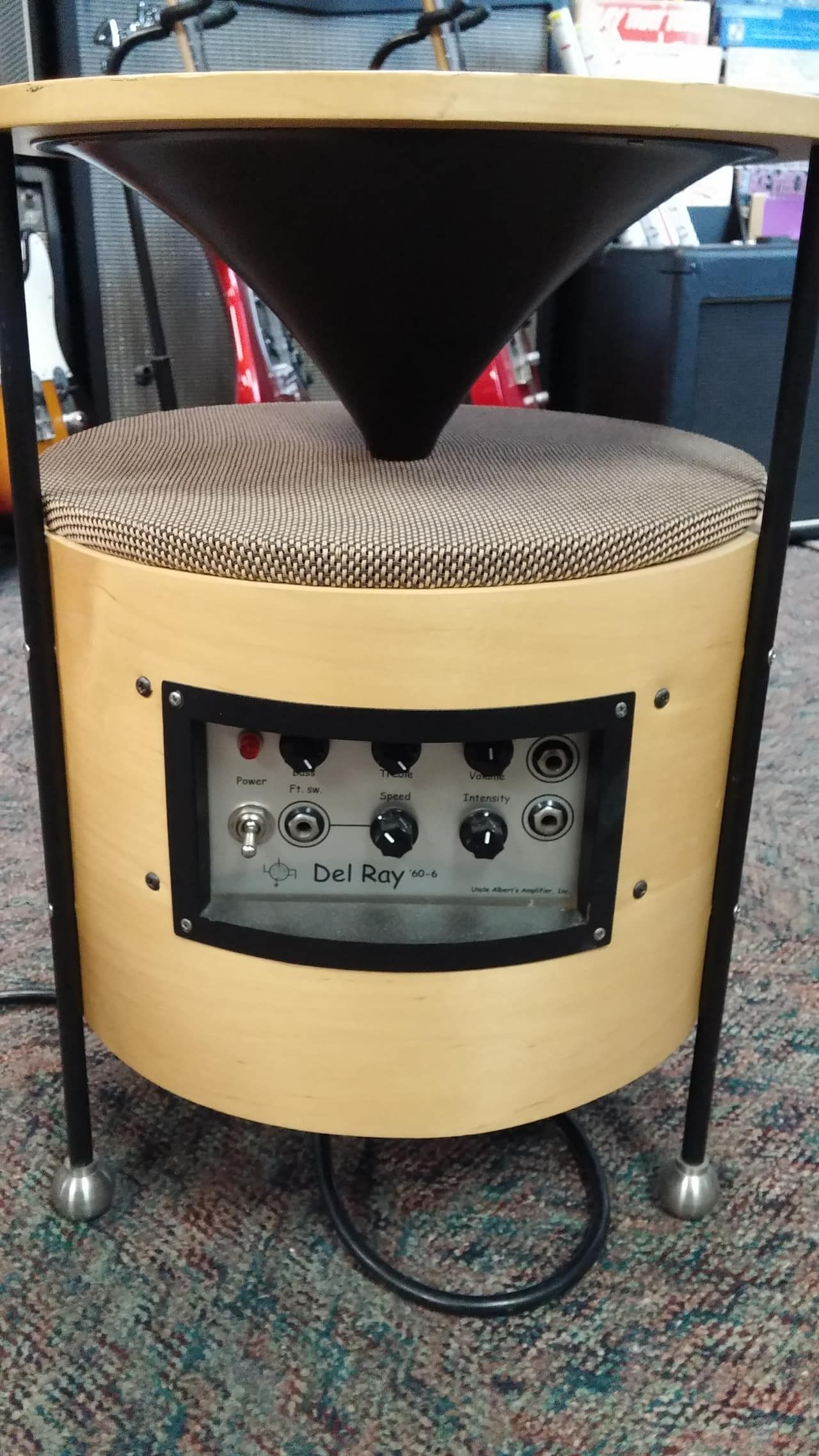 Unusual coffee table amplifier all tube 10 watts Sounds like a