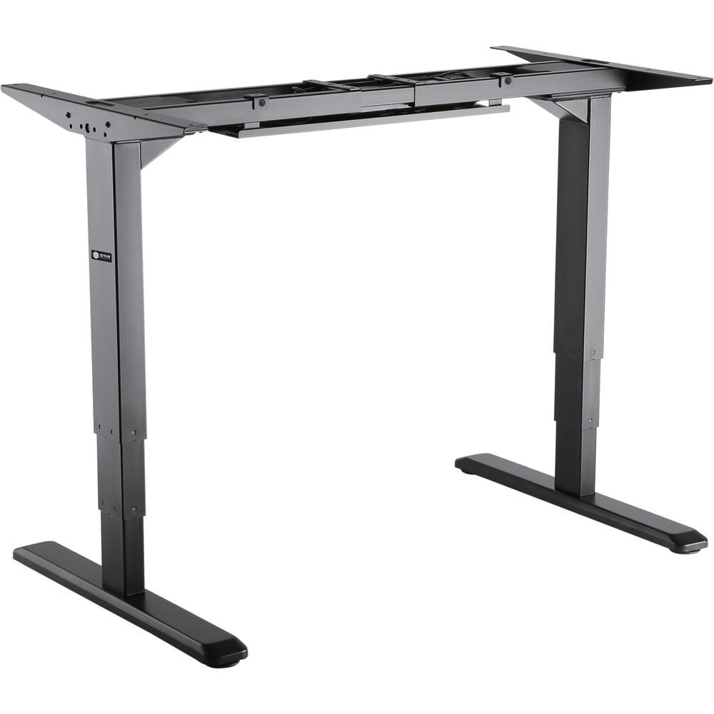 Electric Height Adjustable Sit To Stand Desk Base Black Top Sit To Stand Desk Height Adjustable