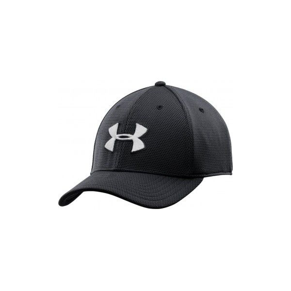 cb58b2b694a Under Armour Blitzing II Stretch Fit Cap Black ( 22) ❤ liked on Polyvore  featuring accessories