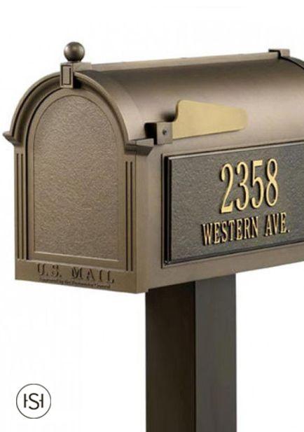 Simple And Elegant The Capital Mailbox And Standard Post Set