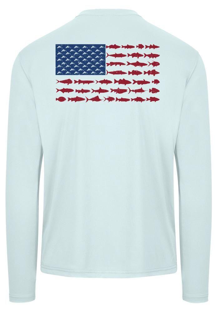 Download American Fish Flag Performance Shirt (Arctic Blue ...