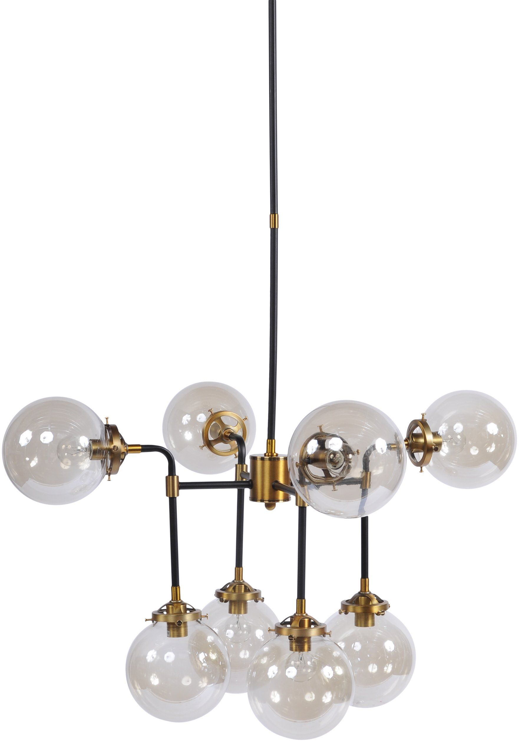 Glass Bubble Black And Brass Chandelier Brass Chandelier Chandelier Glass