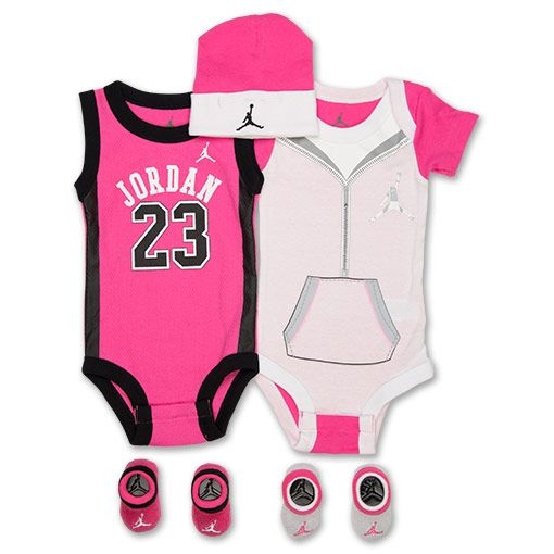 b5ec6ee6499 Girls  Infant Jordan Lil Jersey 5-Piece Set - IGSP5014 PNK