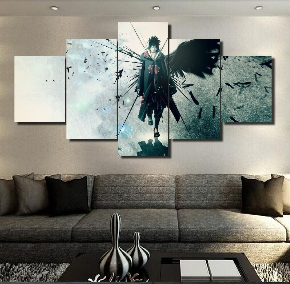 Akatsuki Sasuke Full Hd Personalized Customized Canvas Art Wall Art Wall Decor Customized Canvas Art Living Room Canvas Painting Canvas Wall Art