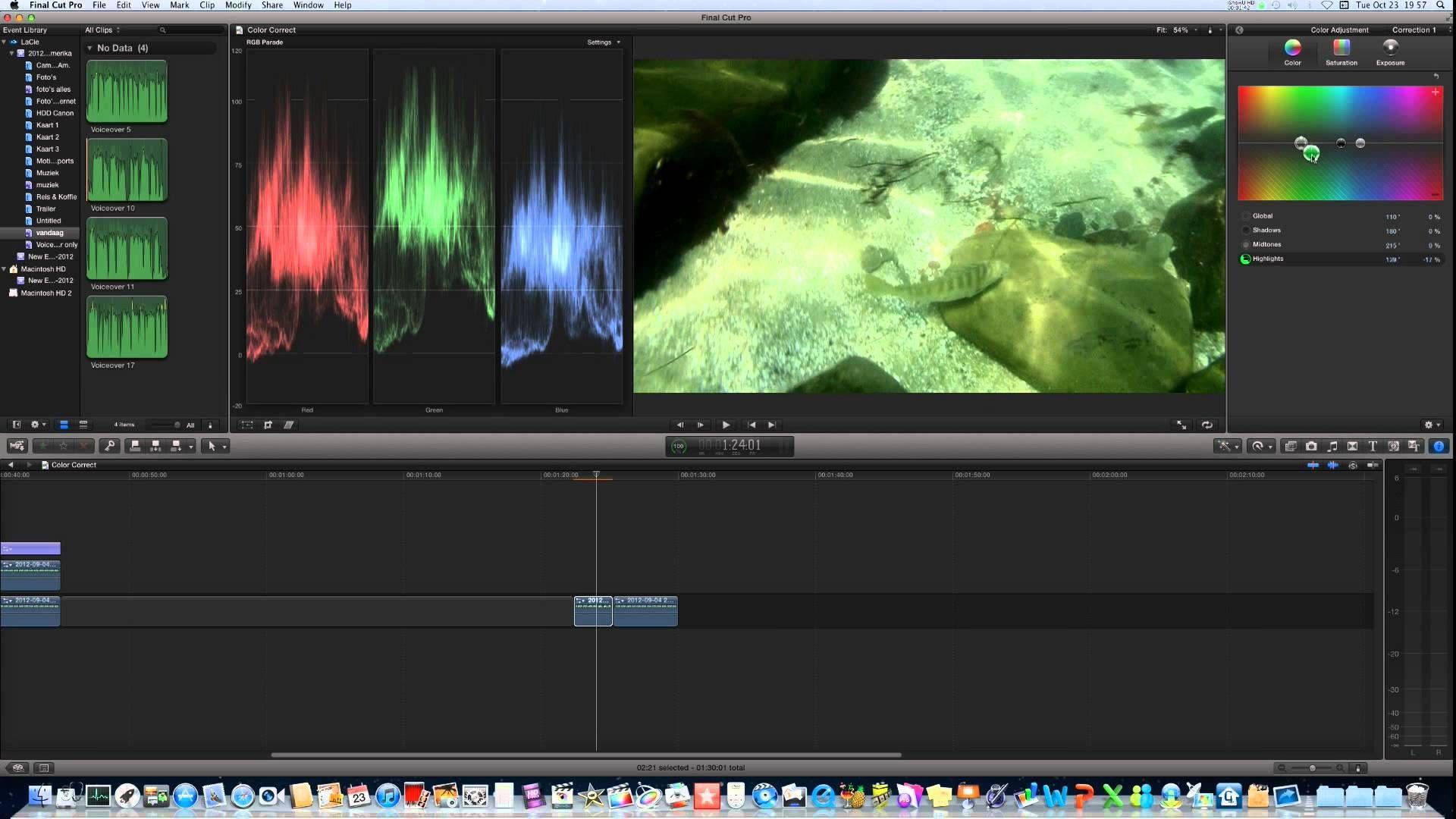 Final Cut Pro X Underwater Color Correction | Production