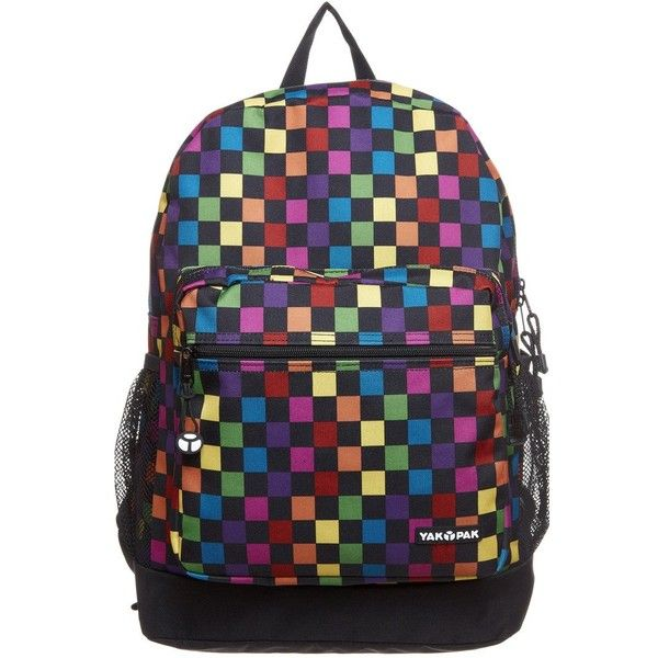 YAK PAK Rucksack ($28) ❤ liked on Polyvore featuring bags, backpacks, multicoloured, colorful bags, rucksack bag, yak pak, day pack backpack and multi colored backpacks